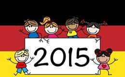 New year 2015 mixed ethnic children Stock Photo