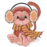 New Year Monkey. Greeting New Year Card with cute red monkey Royalty Free Illustration