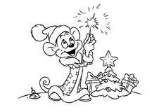 New year  monkey Illustration contour Stock Photo