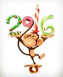 New Year monkey Royalty Free Stock Photos