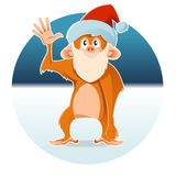 New year monkey. Vector image of a new year monkey vector illustration