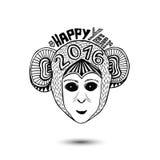 New Year of monkey 2016. vector print design. New Year of monkey 2016. vector print design Stock Photos
