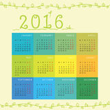 New Year monthly calendar. Happy New Year 2016 monthly calendar, great for your design Vector Illustration