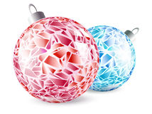 New year mosaic balls Royalty Free Stock Photo
