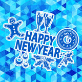 New Year Mosaic Pattern Stock Photos