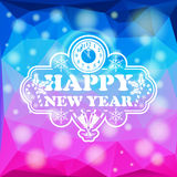 New Year Mosaic Pattern Stock Photography