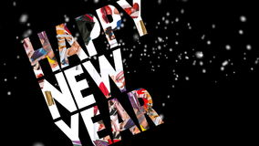 New Year 2012, motion card Royalty Free Stock Images