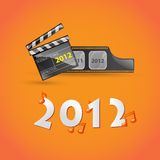 New Year movie card Royalty Free Stock Photo