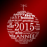 2015 new year multilingual text word cloud greeting card Royalty Free Stock Photos