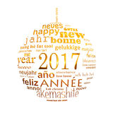 202017 new year multilingual text word cloud greeting card Stock Images