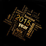 2015 new year multilingual text word cloud greeting card. 2015 new year multilingual text word cloud square greeting card Stock Photo