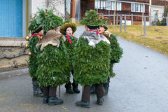 New Year Mummers (Silvesterchlausen) in Urnasch, Appenzell Stock Images