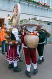 New Year Mummers (Silvesterchlausen) in Urnasch, Appenzell Royalty Free Stock Images