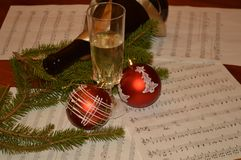 New year and music. Christmas  party new year Stock Photography