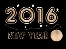 2016, new year with necklace Stock Photo