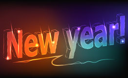 New year - a neon inscription Royalty Free Stock Image