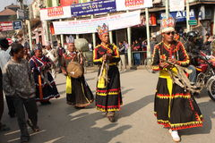New Year in Nepal Stock Image