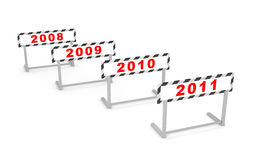 New Year - new hurdle Stock Photography