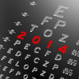 New year, new look. Abstract eye chart background design. New year concept Stock Photography