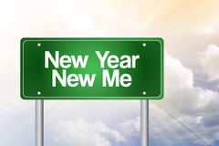 New Year New Me. Green road sign concept Royalty Free Stock Images