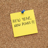 New Year New Plans Resolution Stock Photos