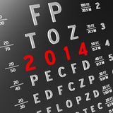 New year new vision. Abstract eye chart background design. New year concept Stock Image