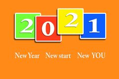 Free New Year, New You, Start, Goals. Conceptual Motivational Message Written With White Numbers On Colorful Round Objects.. Stock Photo - 203201370