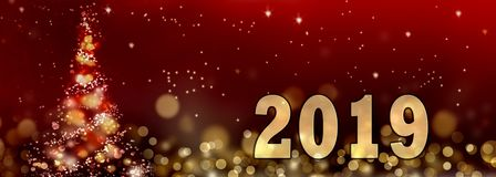 2019 new year greeting card stock image