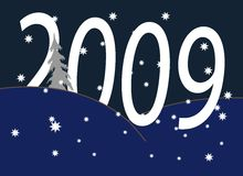 New Year in the night. New Year's and Christmass collection of illustrations vector illustration