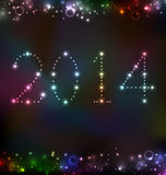 New Year night background with light Royalty Free Stock Photos