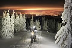 Hoverla night ascent royalty free stock photos
