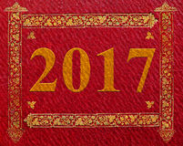 2017 New year ntage background Royalty Free Stock Image