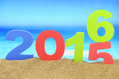 New year number 2016 Royalty Free Stock Photography
