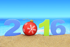 New year number 2016 Stock Photography