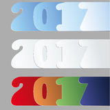 2017 new year number design Stock Image