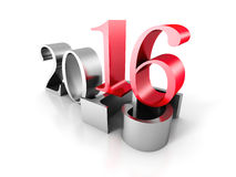 New Year Number 2016 Ove Old 2016. 3d Render Illustration Royalty Free Stock Photos
