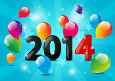 New Year numbers. With balloons Royalty Free Stock Images
