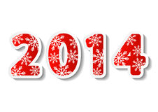 New Year 2014 numbers. New Year card with 2014 numbers Royalty Free Stock Photography