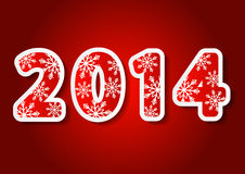 New Year  2014 numbers. New Year card with 2014 numbers Royalty Free Stock Photo