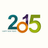 New year 2015  numbers colorful design Stock Image