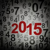 New year 2015 numbers. On grunge background Royalty Free Stock Images