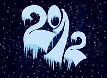 New Year numbers  in ice Royalty Free Stock Images
