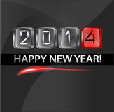 2014 New year numbers. On the keys keyboard кмпьютера on a black background stock illustration