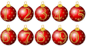 New Year Numbers on red balls Royalty Free Stock Image
