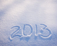 New Year numbers on the snow Stock Image