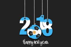 New Year numbers 2018 and soccer ball Royalty Free Stock Photos
