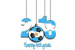 New Year numbers 2018 and soccer ball Stock Image