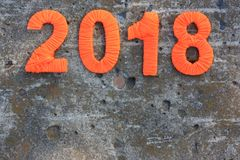 New year numeral thread. background cement. New year numeral thread. background concrete Stock Photography