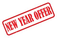 New year offer stamp. On white royalty free illustration