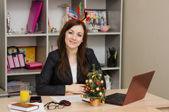 New year in office Stock Image